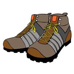 Рекомендуется обувь для альпинизма, ее не следует выбирать.